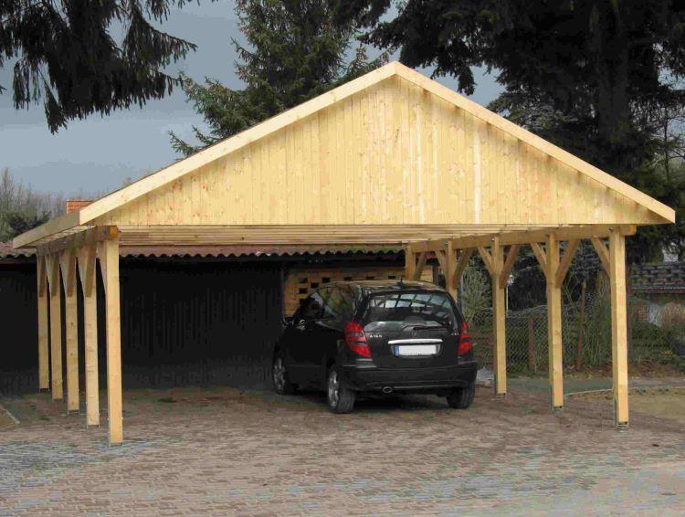 carport satteldach monte carlo ii 600x800cm kvh holz ebay. Black Bedroom Furniture Sets. Home Design Ideas