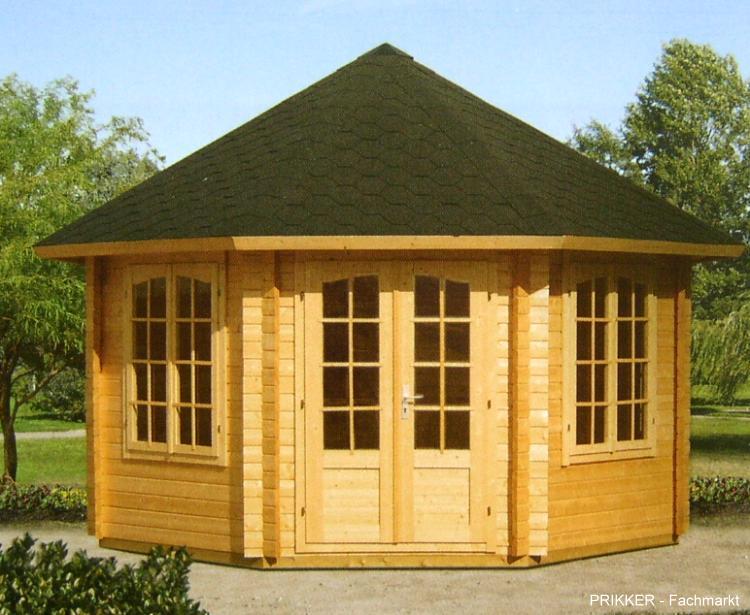 pavillon natalia blockhaus 421 cm x 421 cm 44 mm ebay. Black Bedroom Furniture Sets. Home Design Ideas