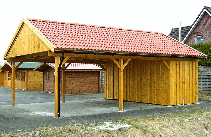 carport satteldach las vegas 600x800cm ger teraum holz. Black Bedroom Furniture Sets. Home Design Ideas