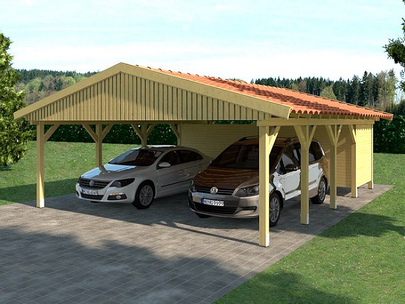 carport satteldach hockenheim ii 600x800cm ger teraum ebay. Black Bedroom Furniture Sets. Home Design Ideas
