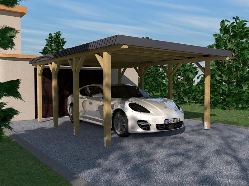 carport leimholz hunsr ck i walmdach 340x600cm mit schieferblende dacheindeckung kaufen bei. Black Bedroom Furniture Sets. Home Design Ideas
