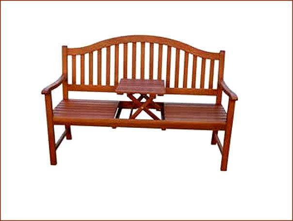 gartenbank phuket 3 sitzer sitzbank mit klapptisch bank holzbank holz ebay. Black Bedroom Furniture Sets. Home Design Ideas