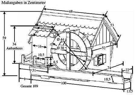 wasserm hle jever 110x74x59cm gartenm hle inkl elektrischer pumpe neu ebay. Black Bedroom Furniture Sets. Home Design Ideas