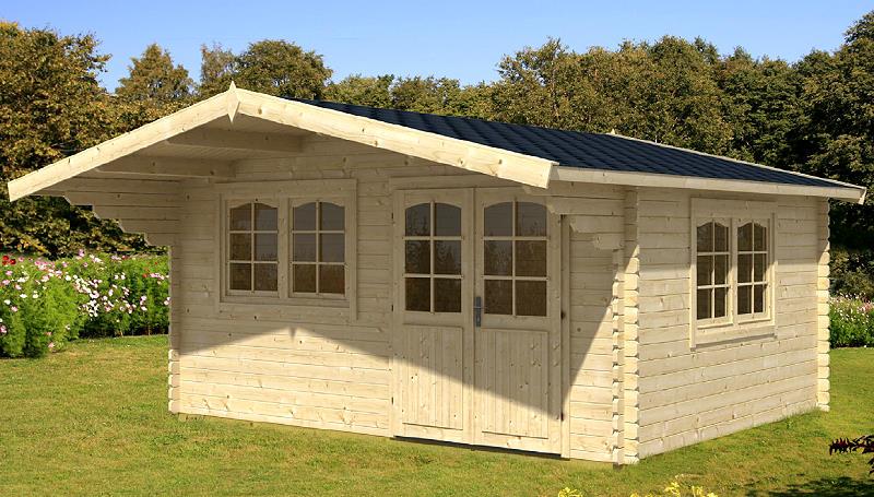 gartenhaus oslo i blockhaus 470 x 380cm 40mm inkl. Black Bedroom Furniture Sets. Home Design Ideas