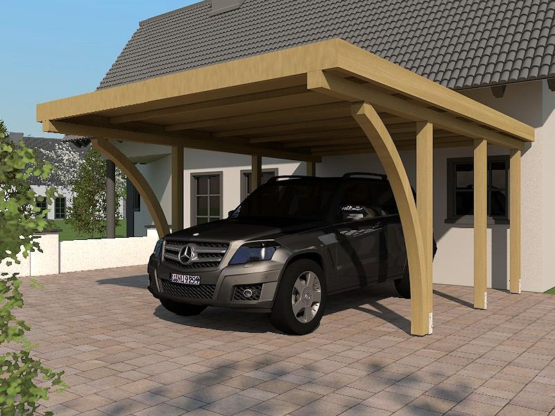 carport flachdach daytona ii 400 x 600 cm mit 2. Black Bedroom Furniture Sets. Home Design Ideas