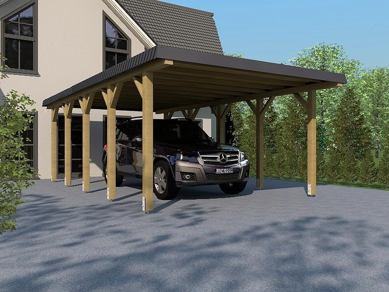 carport leimholz hunsr ck ii walmdach 340x800cm schieferblende dacheindeckung kaufen bei. Black Bedroom Furniture Sets. Home Design Ideas