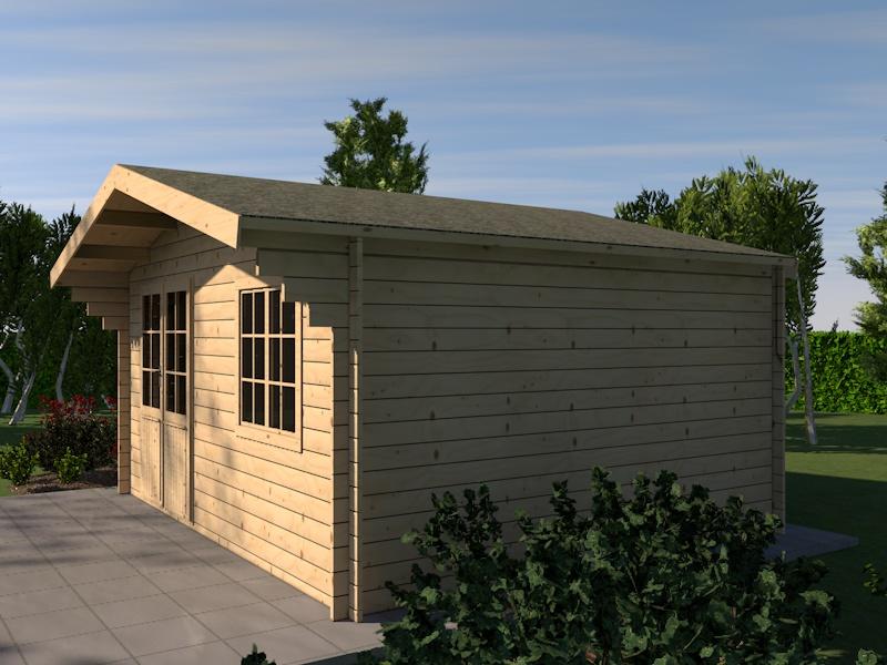 gartenhaus eifel blockhaus 505cm x 415cm 44 mm holzhaus. Black Bedroom Furniture Sets. Home Design Ideas
