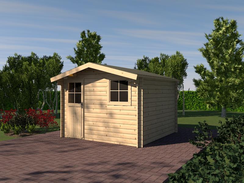 gartenhaus ems blockhaus 320cm x 320cm 28mm ebay. Black Bedroom Furniture Sets. Home Design Ideas