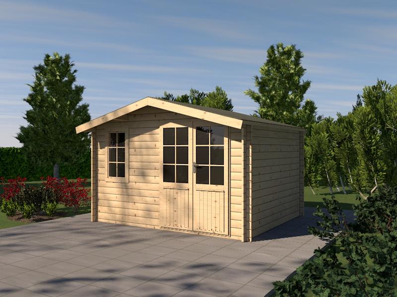 gartenhaus leda blockhaus 385cm x 325cm 28mm holzhaus. Black Bedroom Furniture Sets. Home Design Ideas