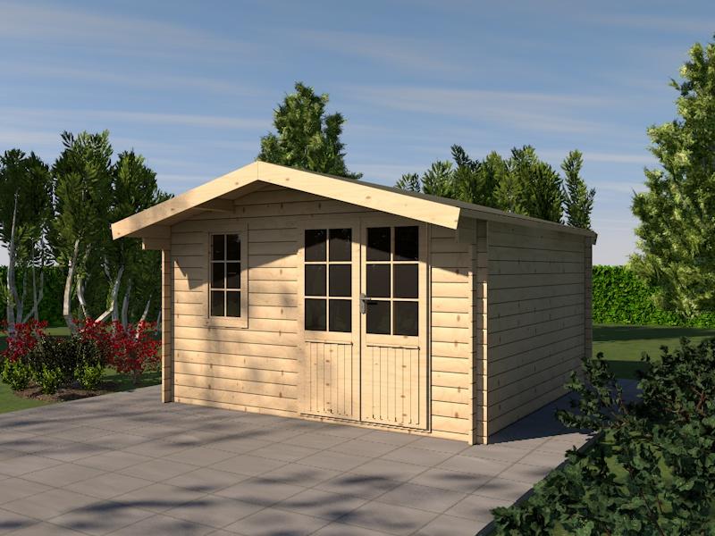 gartenhaus fuchsie blockhaus 415 cm x 415 cm 28 mm. Black Bedroom Furniture Sets. Home Design Ideas