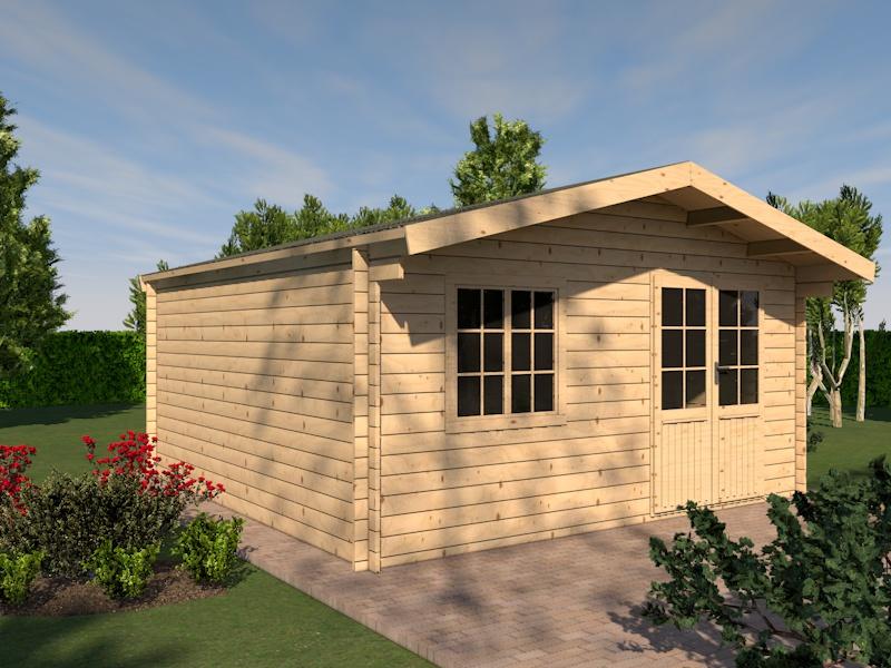 gartenhaus taunus blockhaus 505cm x 505cm 44 mm ebay. Black Bedroom Furniture Sets. Home Design Ideas