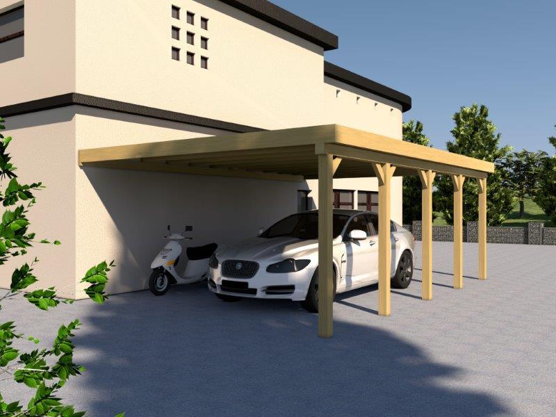 anlehncarport carport eifel ii 500x700cm bausatz inkl pvc dacheindeckung kaufen bei. Black Bedroom Furniture Sets. Home Design Ideas