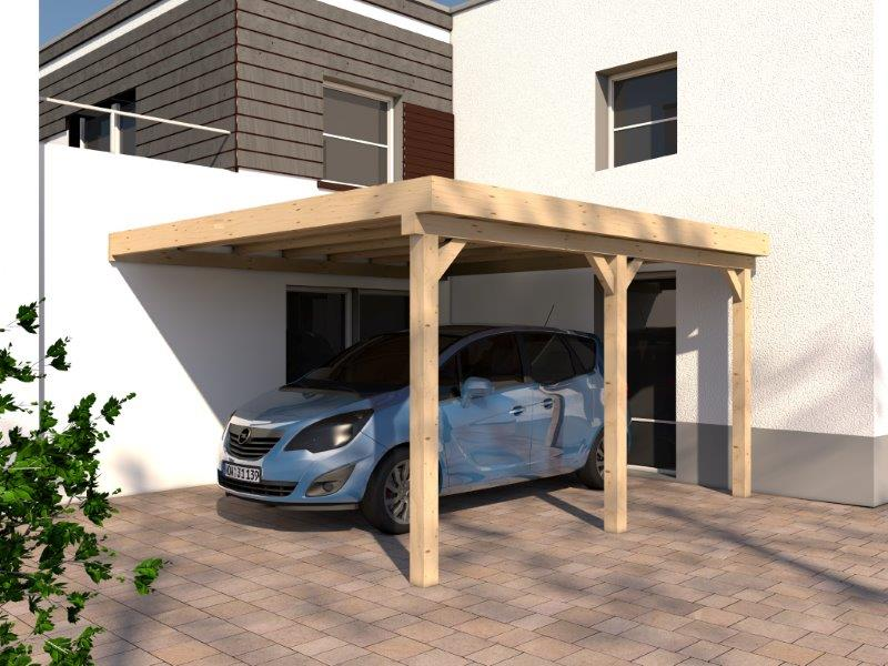 anlehncarport carport rh n v 400x500cm kvh bausatz carport dacheindeckung ebay. Black Bedroom Furniture Sets. Home Design Ideas