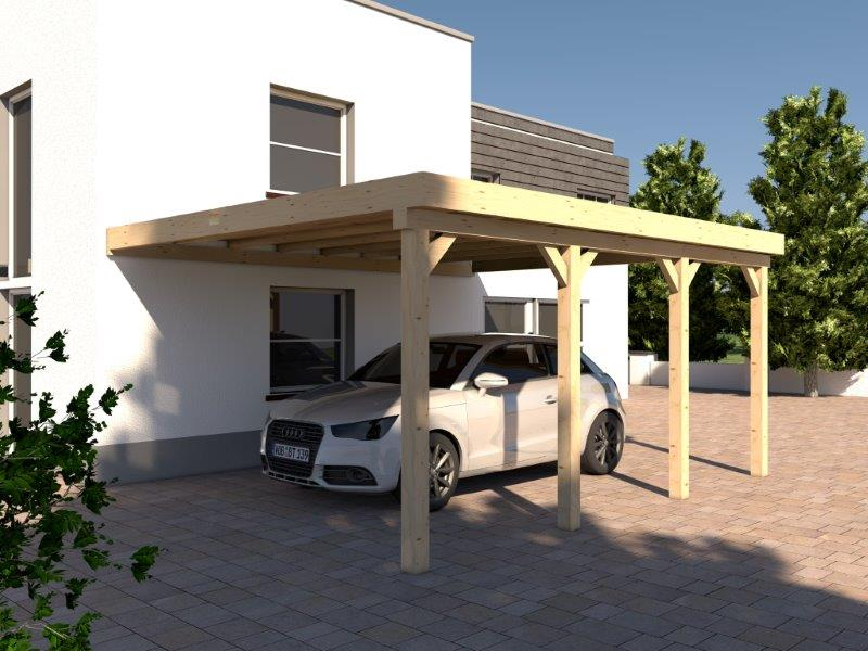 anlehncarport carport rh n iv 400x600cm kvh bausatz carport dacheindeckung kaufen bei. Black Bedroom Furniture Sets. Home Design Ideas