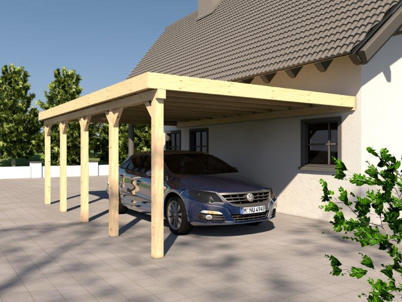 anlehncarport carport rh n vii 400x800cm kvh bausatz carport dacheindeckung kaufen bei. Black Bedroom Furniture Sets. Home Design Ideas