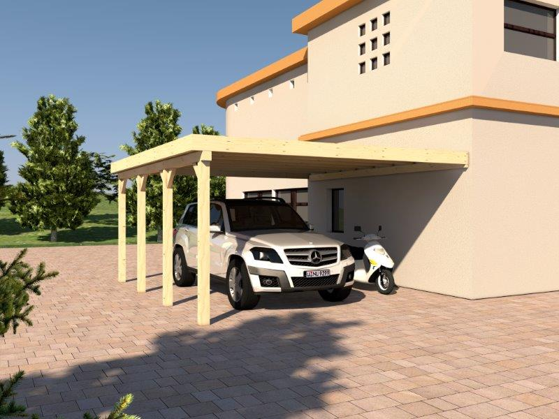 anlehncarport carport rh n ix 500x600cm kvh bausatz carport dacheindeckung ebay. Black Bedroom Furniture Sets. Home Design Ideas