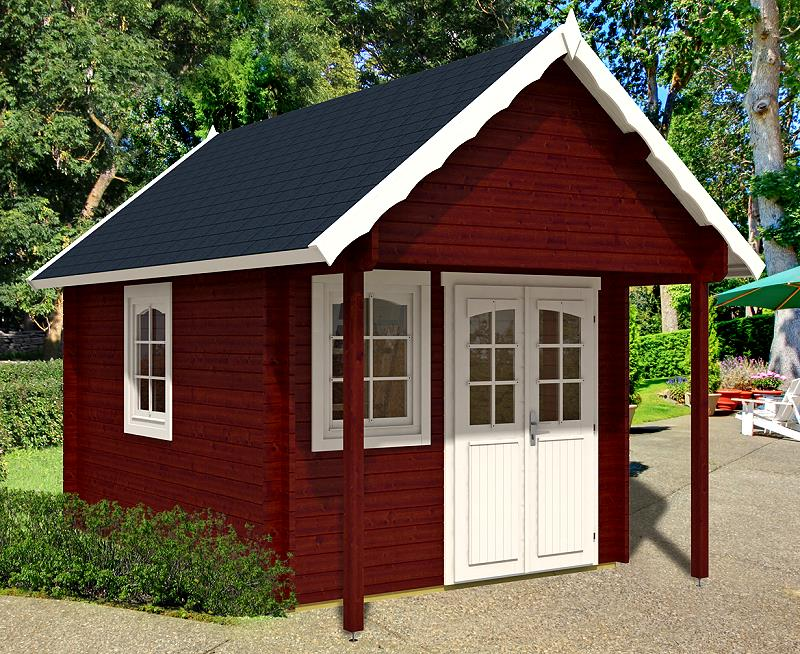 gartenhaus bunkie 40 schlafboden blockhaus 290x380 100cm. Black Bedroom Furniture Sets. Home Design Ideas