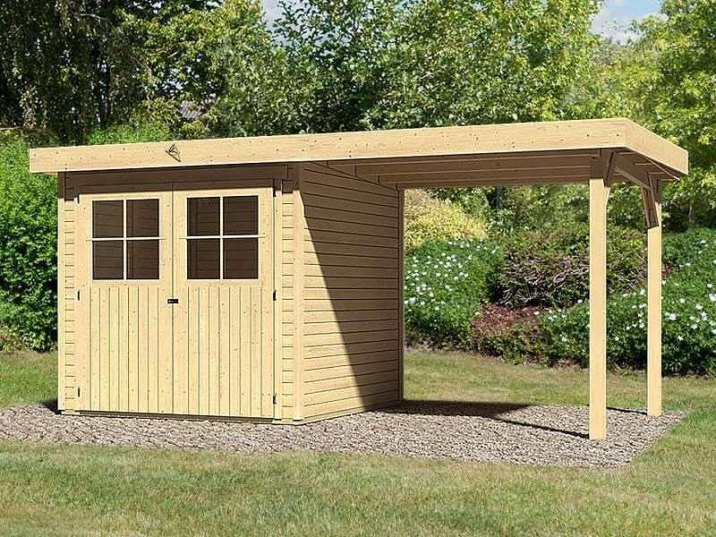 karibu gartenhaus limburg 3 anbaudach natur ger tehaus 213x217cm 19mm ebay. Black Bedroom Furniture Sets. Home Design Ideas