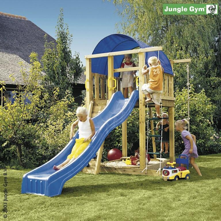 spielturm jungle gym villa spielhaus 220x170x270 cm ohne rutsche ebay. Black Bedroom Furniture Sets. Home Design Ideas